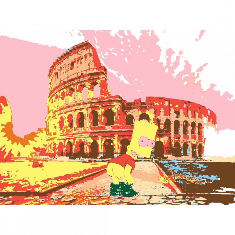 Bart Simpson in Rome - Limited Edition Artwork by Mercury