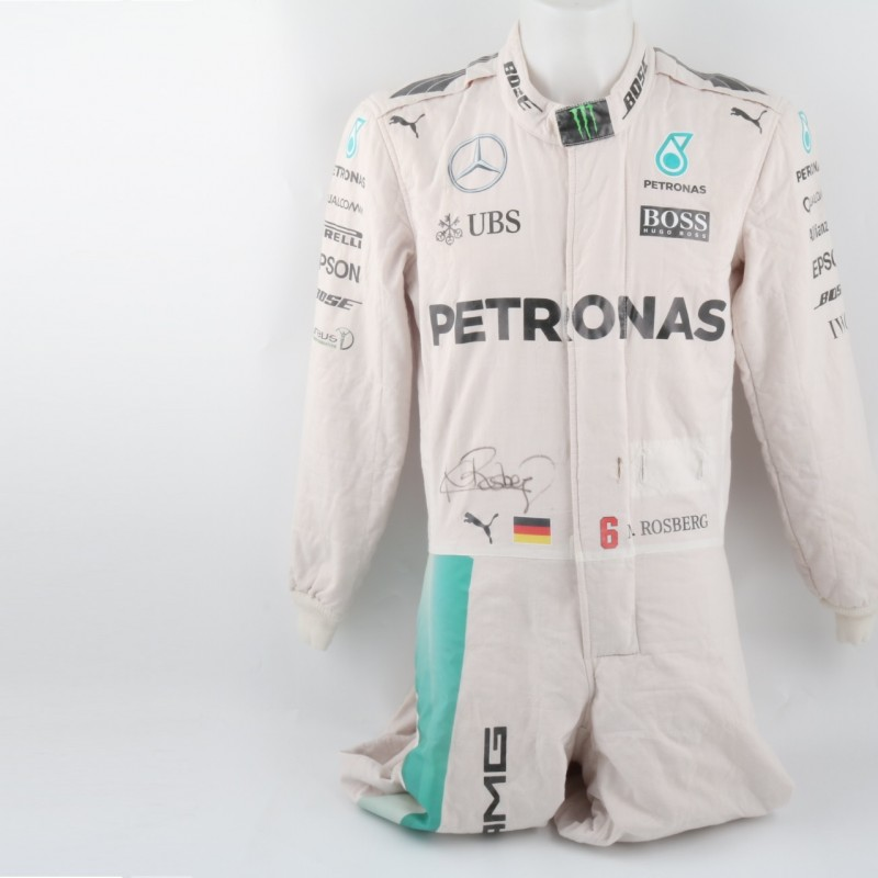 Mercedes suit worn by Nico Rosberg, F1 2016 season - signed + COA