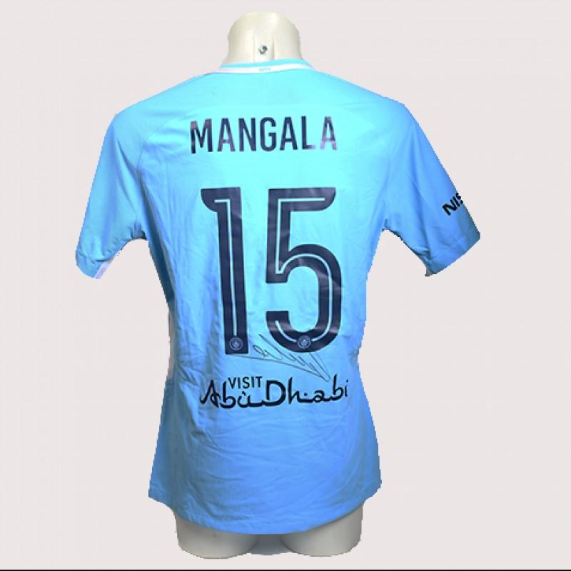 Eliaquim Mangala Match-Worn Signed Manchester Derby Shirt