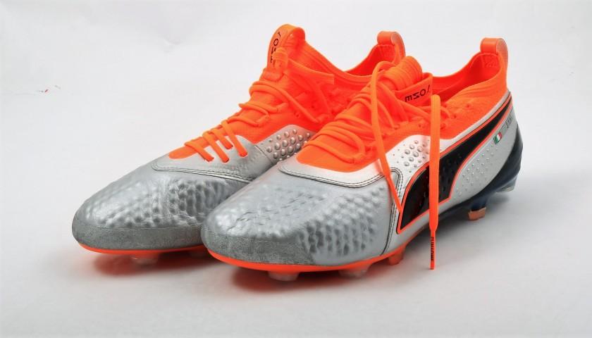 Chiellini's Match-Issue Puma One Signed Boots, 2018/19 Season