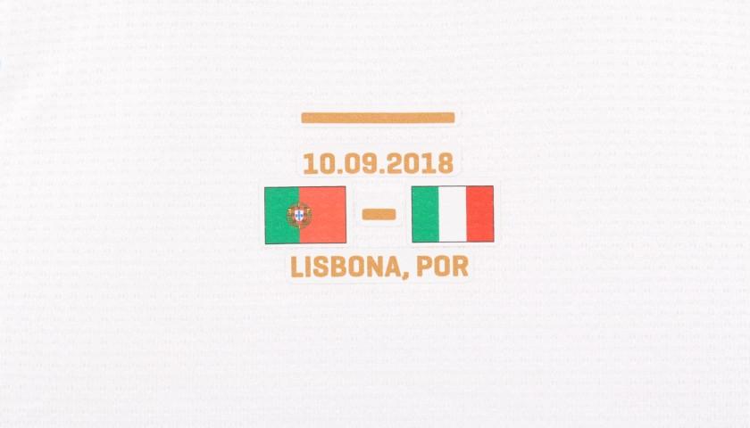 Romagnoli's Match-Issue / Worn Shirt, Portugal-Italy 2018