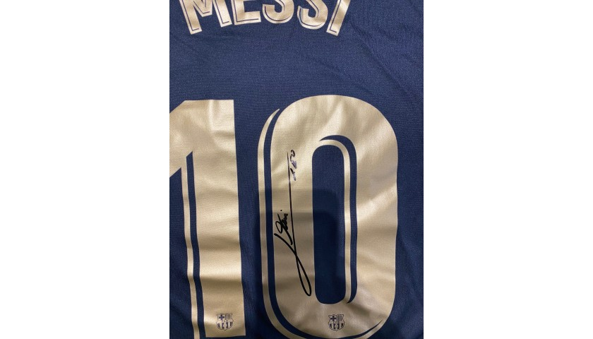 Messi's Official Barcelona Signed Shirt, 2020/21