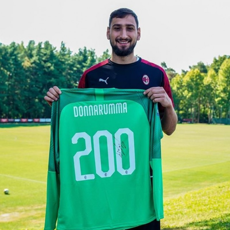 Donnarumma's Official Milan Signed Shirt, 200 Caps