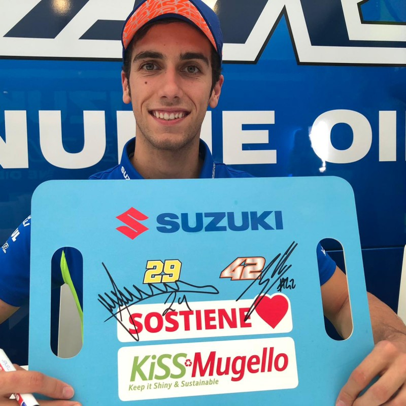 KiSS Mugello Suzuki Banner - Signed by Iannone and Rins