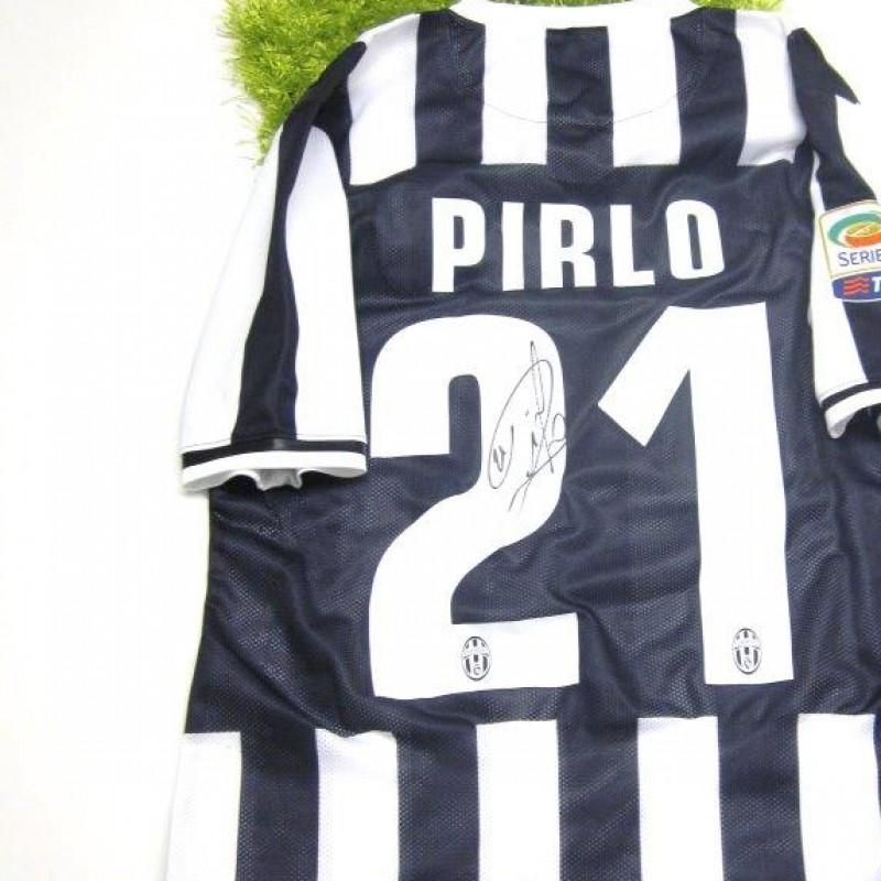Juventus fanshop shirt, Andrea Pirlo, Serie A 2013/2014 - signed
