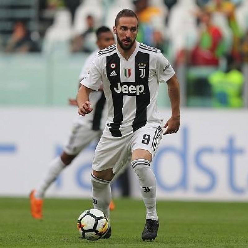 Higuain's Match Shirt, Juventus-Verona 2018 - #UN1CO Patch
