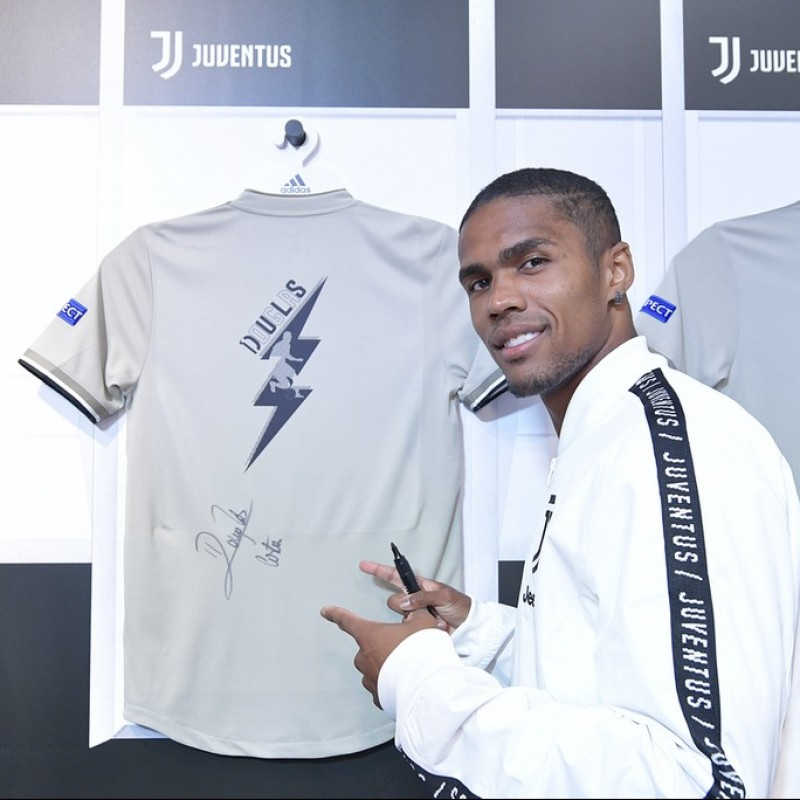 "Costa's Juventus ""Here to Create"" Signed Shirt"