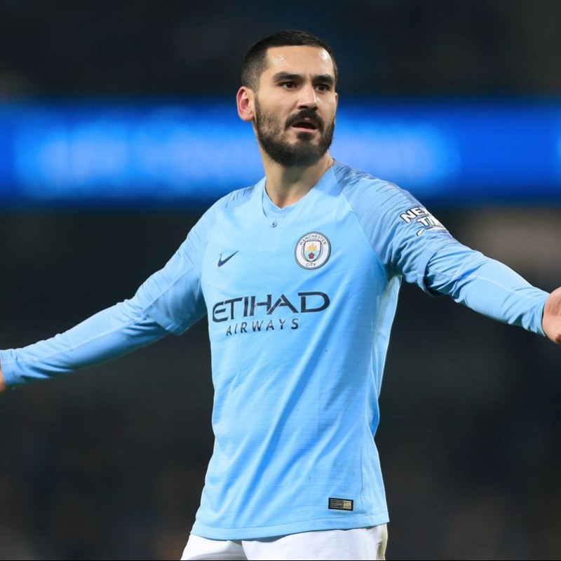 Gundogan's Man City Match Shirt, EPL 2018/19