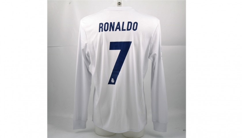 meet cb7e2 cb4db Ronaldo's Match-Issued Real Madrid Shirt From the Match against Sporting  Gijon, #ForTheOceans - CharityStars
