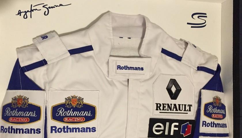 Ayrton Senna 1994 Williams Framed Suit