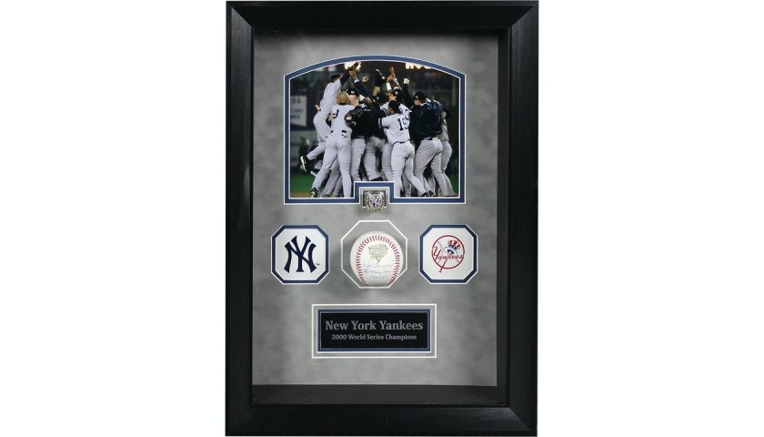 Joe Torre Signed World Series Baseball with Replica World Series Ring Shadowbox