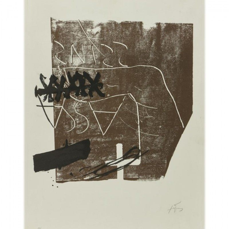 """Untitled"" by Antoni Tapies"