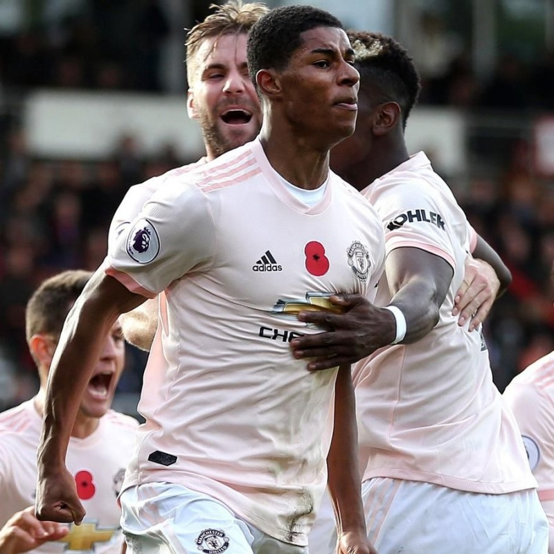 Rashford's Poppy Match Kit, Bournemouth vs Man Utd 2018
