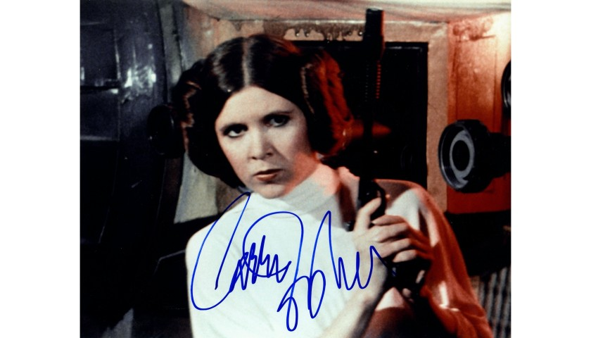 """Carrie Fisher """"Star Wars"""" Hand Signed Photograph"""