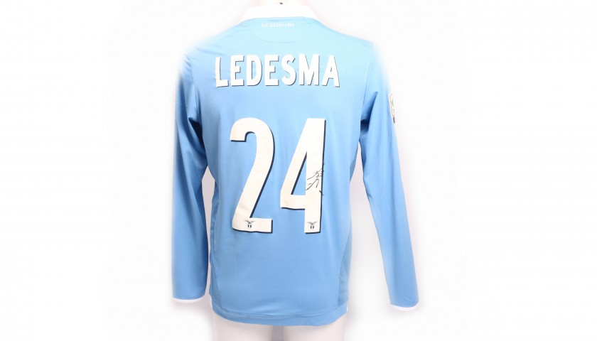 Signed Ledesma S. S. Lazio Match-Issued Home Shirt