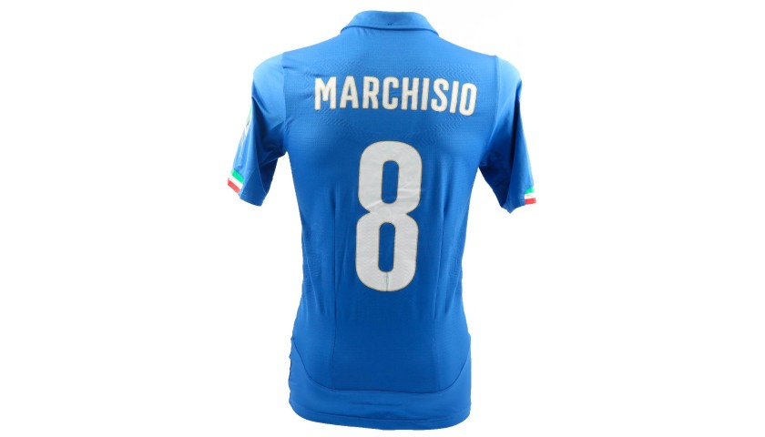 Marchisio's Italy Match-Issue/Worn Shirt, World Cup 2014