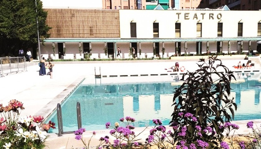 Visit the new swimming pool and the Theatre Franco Parenti with director Andrée Ruth Shammah