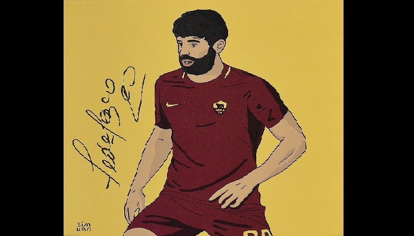 Signed Illustration of Footballer Fazio