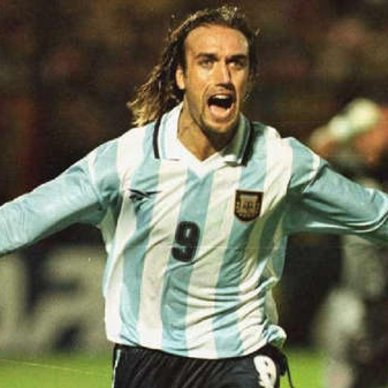 Batistuta's Official Argentina  Signed Shirt, 1999/00