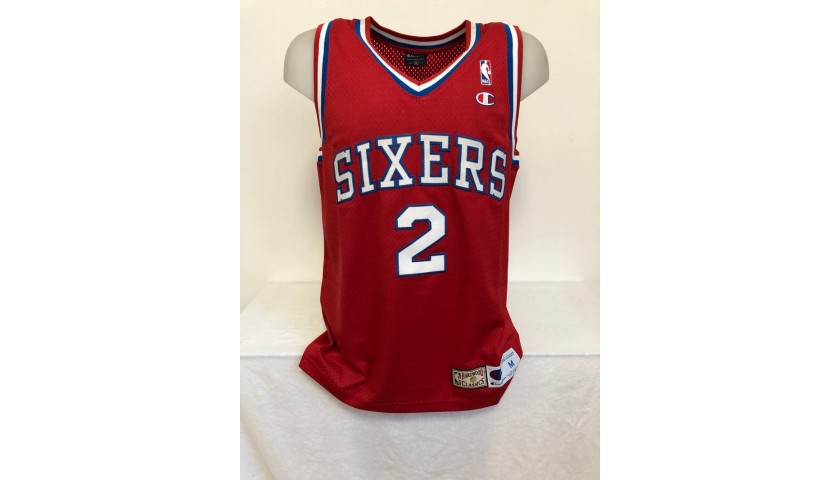 Malone's Official Philadelphia Sixers Signed Jersey, 1990s