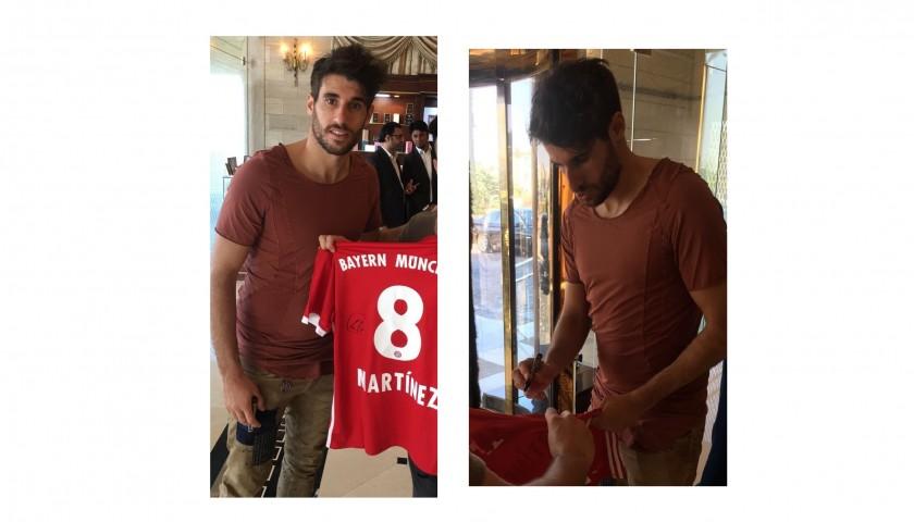 Official 2016/2017 Bayern Munich Shirt Signed by Javi Martinez