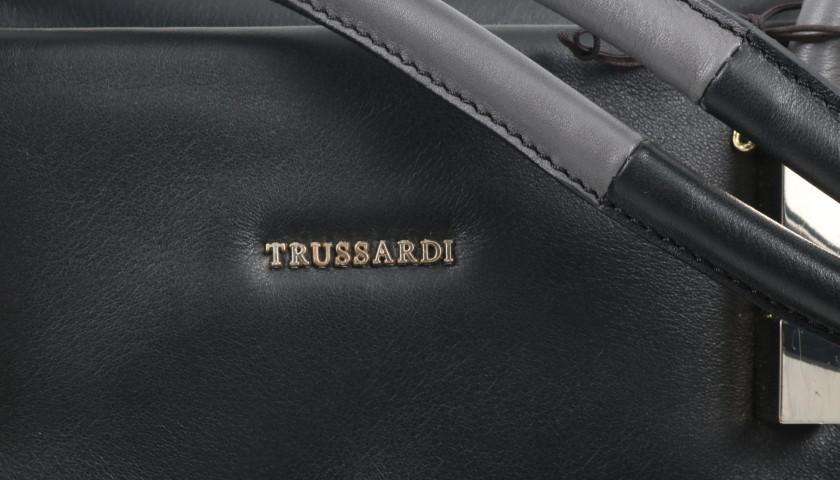 Calfskin Trussardi Shopper with Tubular Handles