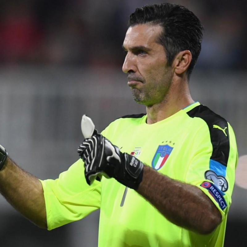 Buffon's Italy Match Signed Shorts, 2018