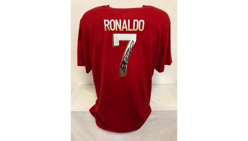Ronaldo's Official Portugal Signed T-shirt, 2012