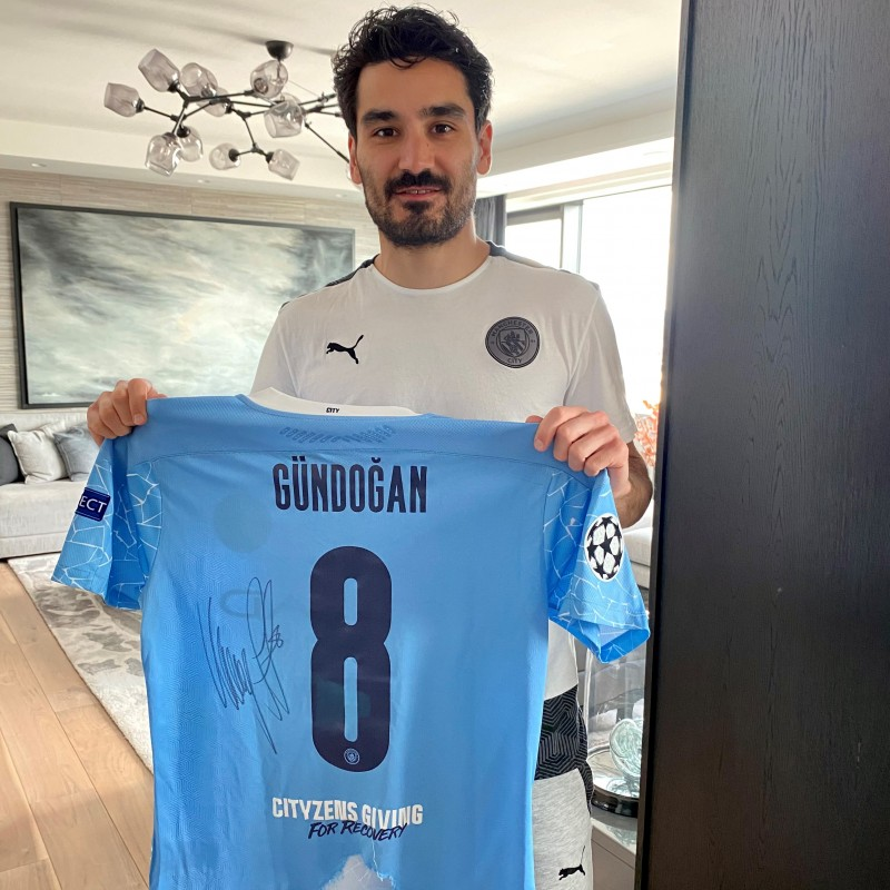 Gundogan's Worn and Signed Match Shirt, Manchester City-BVB 2021