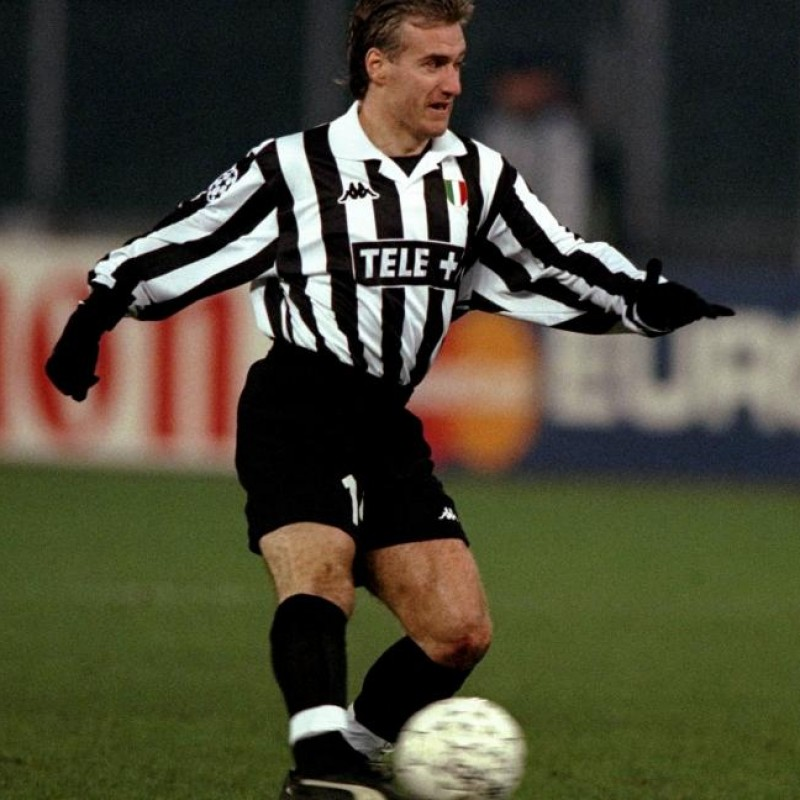 Deschamps' Juventus Match Shirt, UCL 1998/99
