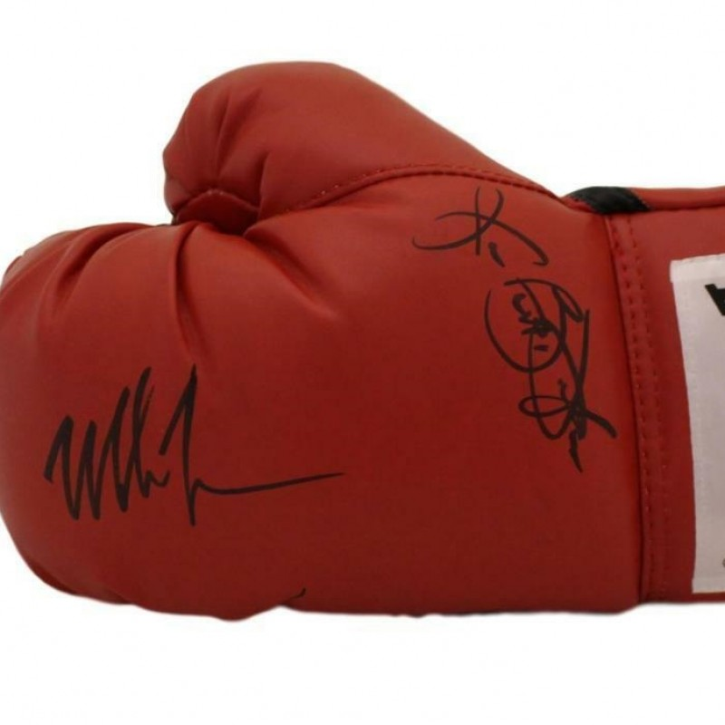 Mike Tyson and Buster Douglas Hand Signed Boxing Glove