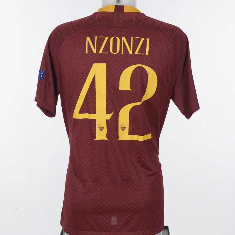 Nzonzi's Match-Issued Shirt, Roma-Porto CL 18/19