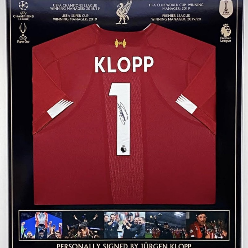 Liverpool FC Shirt Signed by  Jürgen Klopp