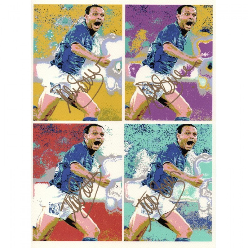 Pop Artwork Signed by Footballer Totò Schillaci