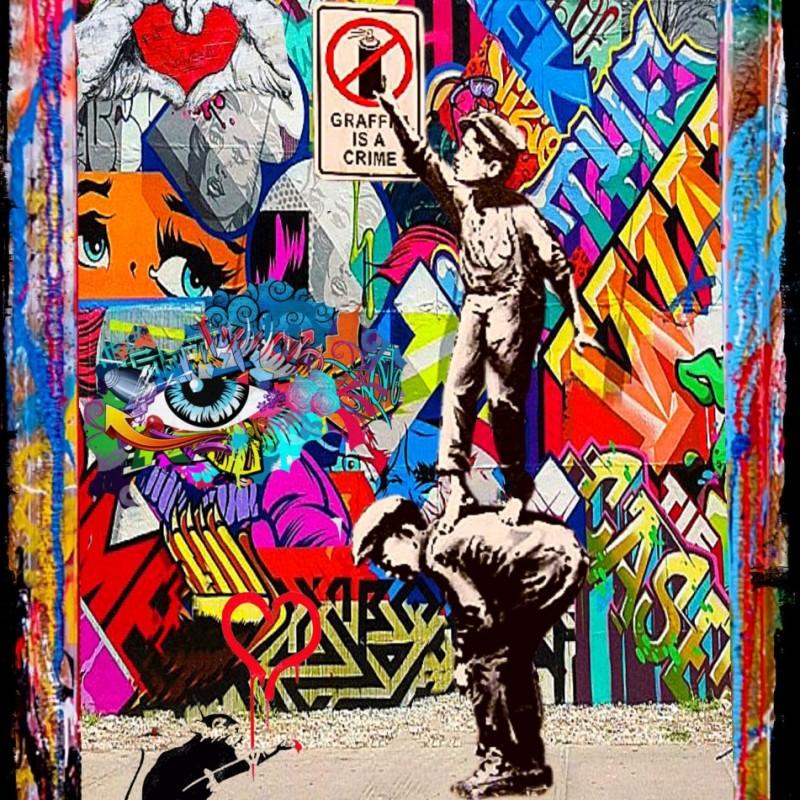 """""""Graffiti is not crime vs Banksy"""" by Mr Ogart"""