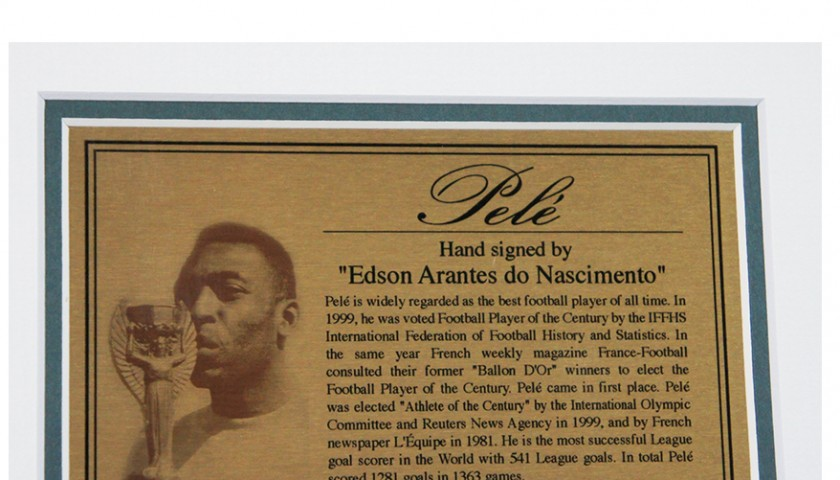 a48a3c0f01f Pele Signed and Framed Brazil Jersey Shirt - CharityStars