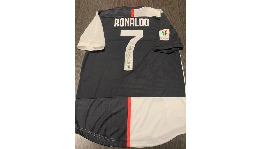 Ronaldo's Juventus Match Signed Shirt, Coppa Italia 2019/20
