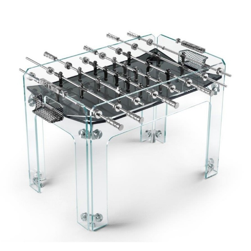 Teckell Foosball Table, Black Cristallino Model