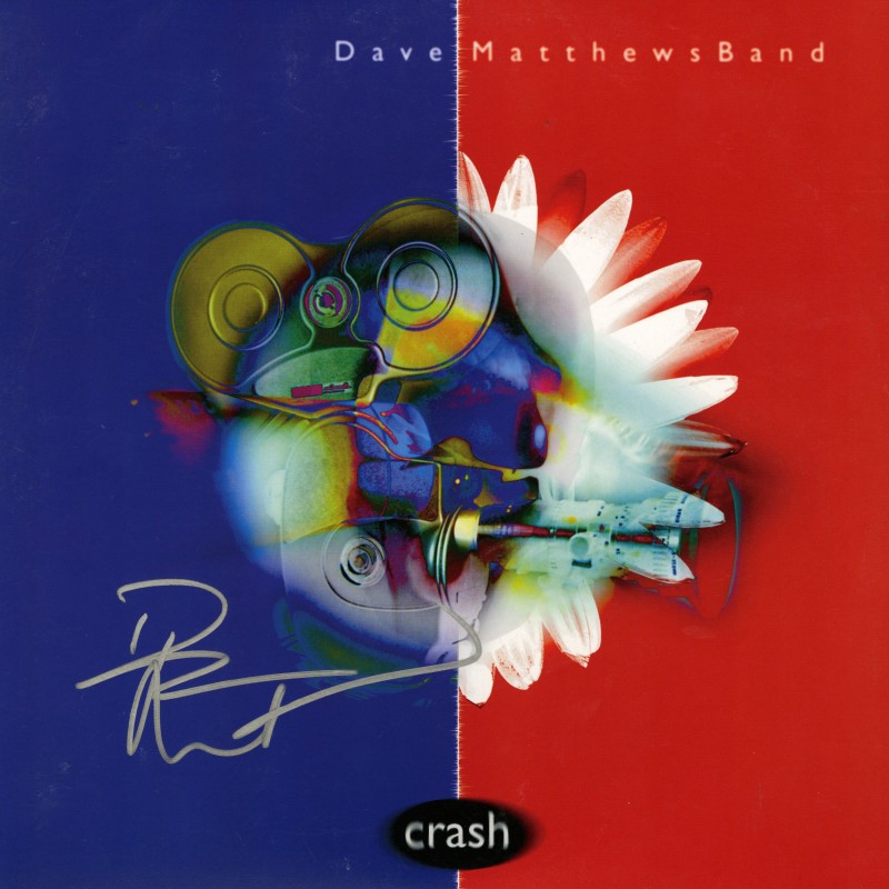 "Dave Matthews Hand Signed ""Crash"" Record Album"
