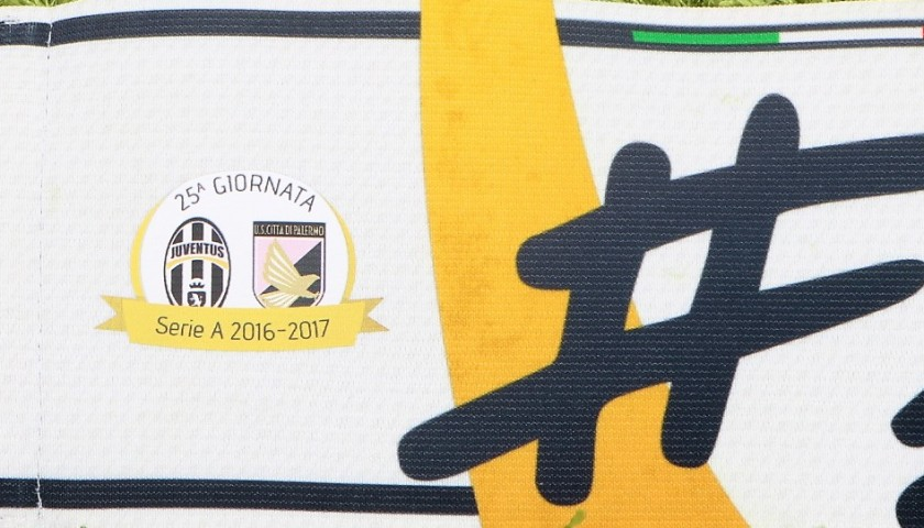 Buffon's Match-Worn Captain Armband, Juventus-Palermo 2017