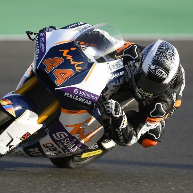 Helmet Worn by Aron Canet at Jerez Moto GP 2020