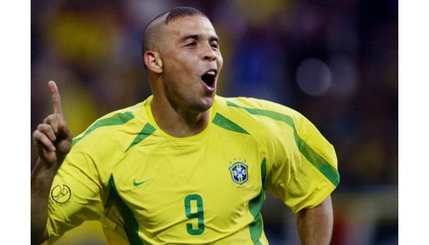 Ronaldo Signed Team Brazil Shirt