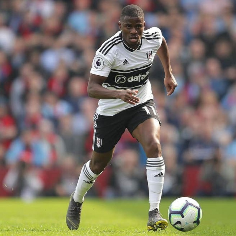 Ayite's Fulham Match-issued and Signed Poppy Shirt
