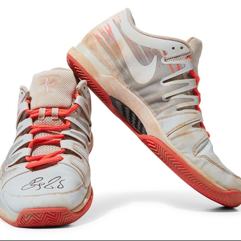 Roger Federer Signed Shoes