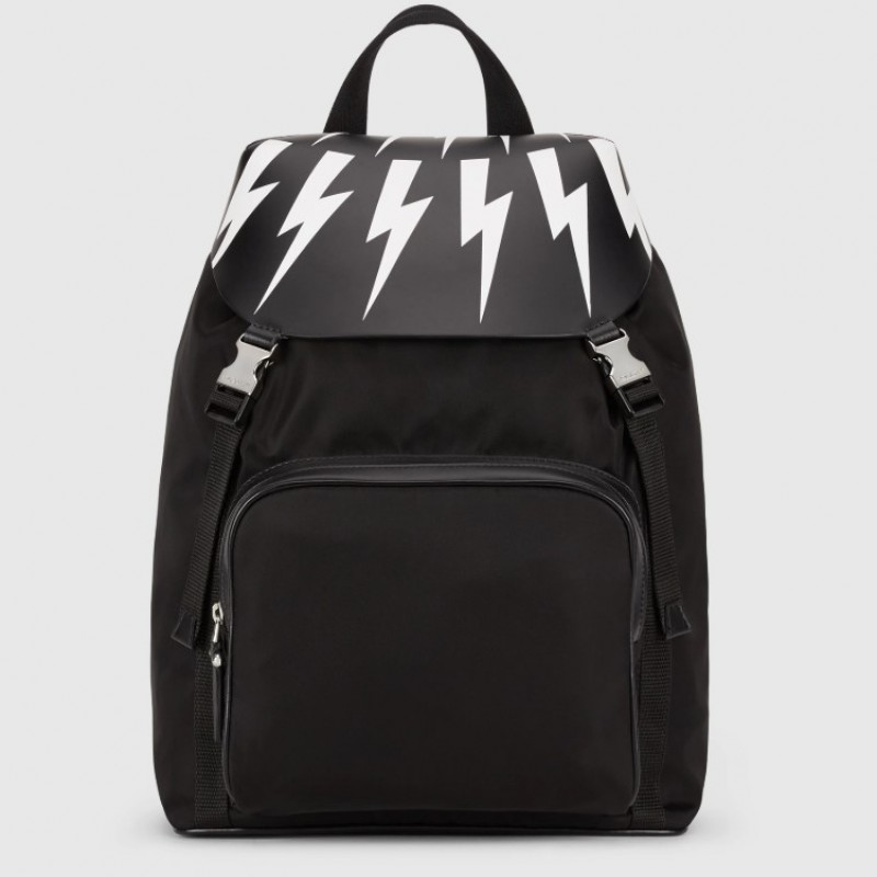 Fair-isle Thunderbolt Backpack autografato da Neil Barrett