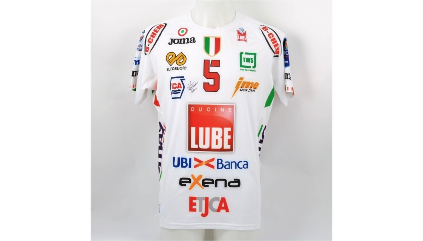 Juantorena's Lube Volley Worn and Signed Jersey, 2017/18