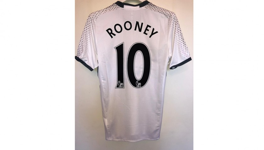 Rooney's Manchester United Match Shirt, PL 2016/17