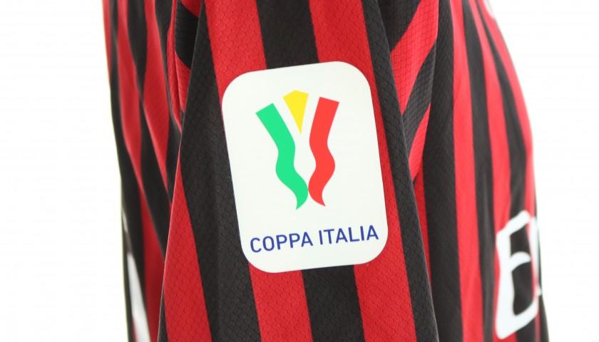 "Rebic's Worn and Signed Shirt, Juventus-Milan - ""Andrà Tutto Bene"""