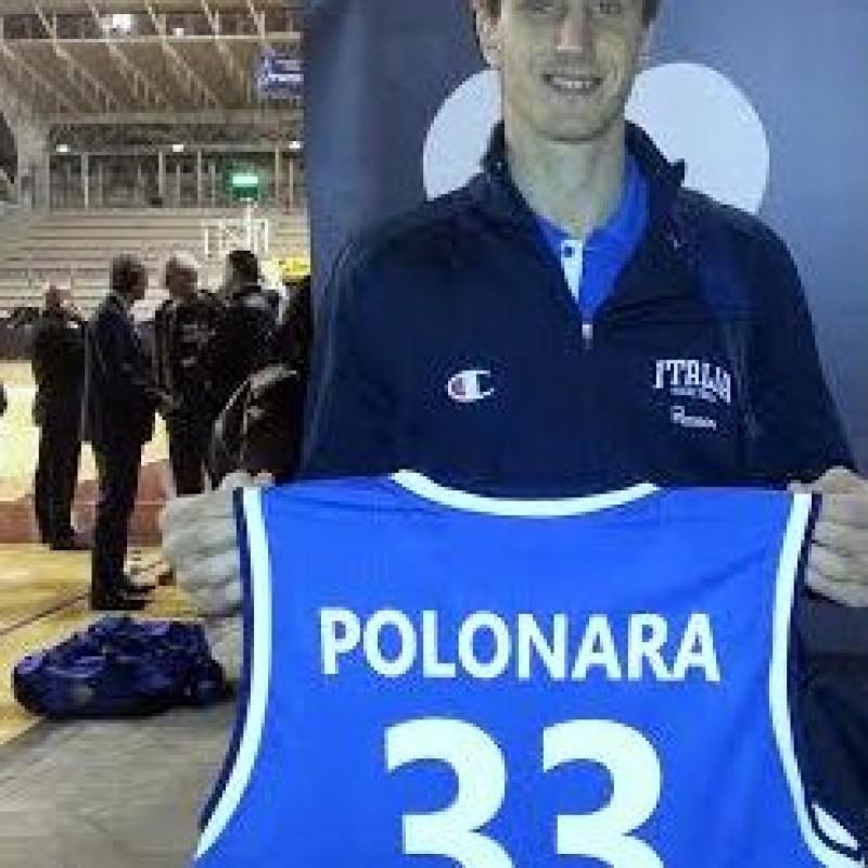 Polonara worn signed shirt - All Star Game BEKO 2014