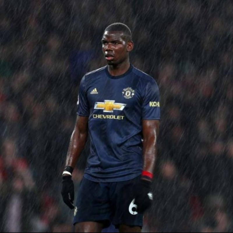 Pogba's Manchester United Match Shirt, 2018/19